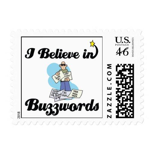 i believe in buzzwords stamp