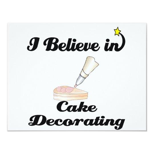i believe in cake decorating card