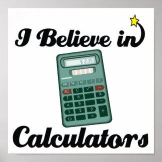 i believe in calculators posters
