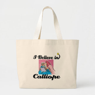 i believe in Calliope Jumbo Tote Bag