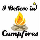 i believe in campfires photo sculptures
