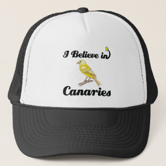 i believe in canaries trucker hat