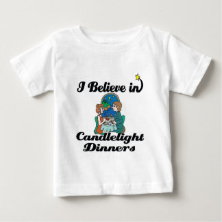 i believe in candlelight dinners t shirt