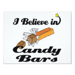 """i believe in candy bars 4.25"""" x 5.5"""" invitation card"""