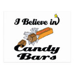 i believe in candy bars postcard
