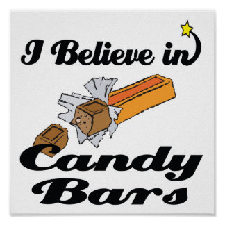 i believe in candy bars print