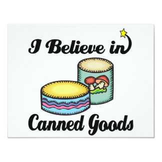 i believe in canned goods 4.25x5.5 paper invitation card