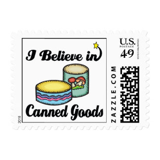 i believe in canned goods stamp