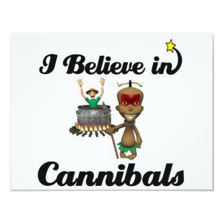 i believe in cannibals 4.25x5.5 paper invitation card