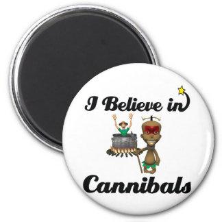 i believe in cannibals fridge magnets