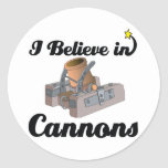i believe in cannons classic round sticker