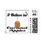 i believe in caramel apples postage stamps