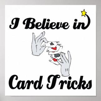 i believe in card tricks poster