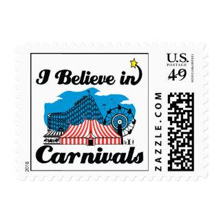 i believe in carnivals stamp