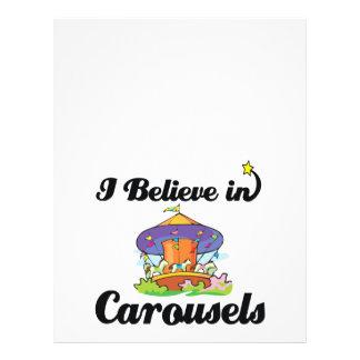"""i believe in carousels 8.5"""" x 11"""" flyer"""