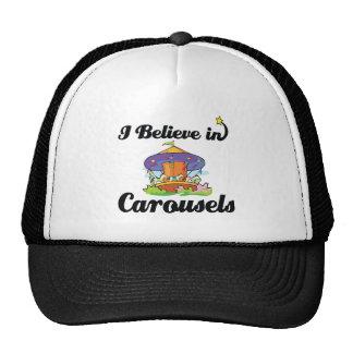 i believe in carousels trucker hat