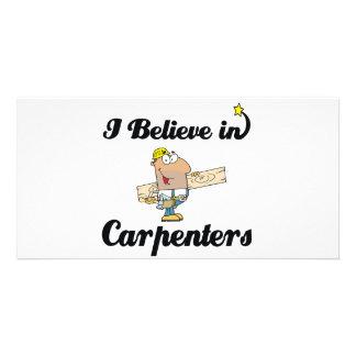 i believe in carpenters photo card
