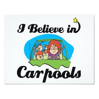 i believe in carpools 4.25x5.5 paper invitation card