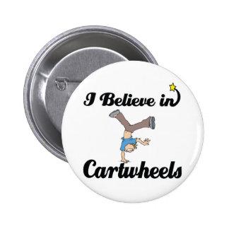 i believe in cartwheels 2 inch round button