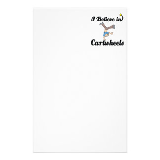 i believe in cartwheels stationery
