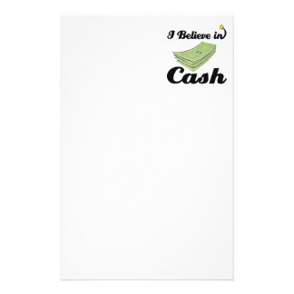 i believe in cash stationery