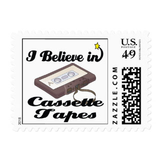 i believe in cassette tapes postage stamps
