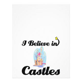 """i believe in castles 8.5"""" x 11"""" flyer"""