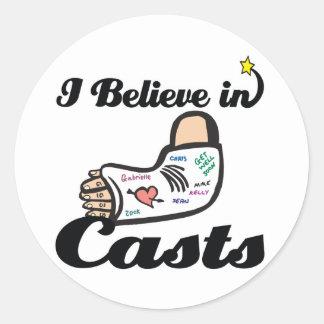 i believe in casts classic round sticker