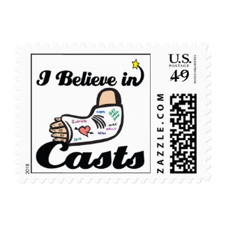 i believe in casts postage stamps