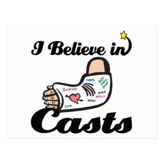 i believe in casts postcard