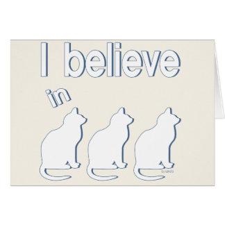 I believe in Cats 1 Card