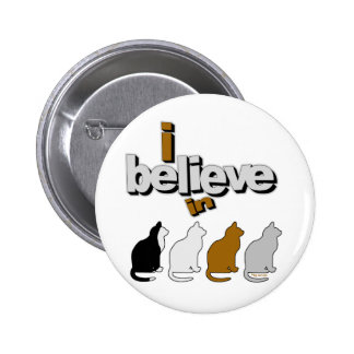 I believe in Cats 2 2 Inch Round Button