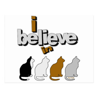I believe in Cats 2 Postcard