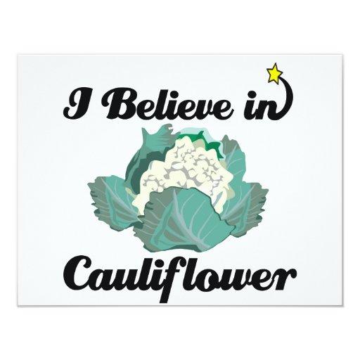i believe in cauliflower 4.25x5.5 paper invitation card