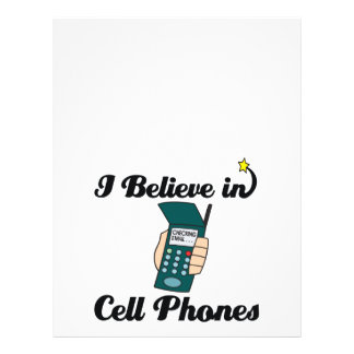 i believe in cell phones personalized flyer