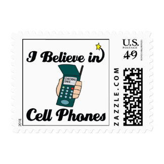 i believe in cell phones stamp