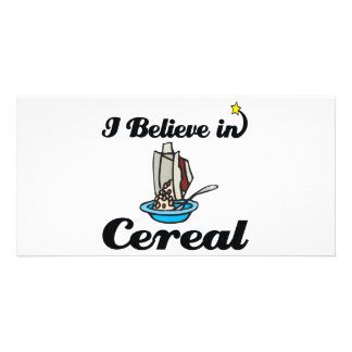 i believe in cereal photo card