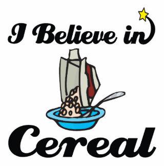 i believe in cereal standing photo sculpture