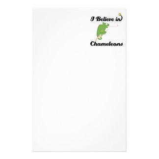 i believe in chameleons stationery