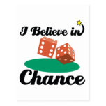 i believe in chance postcard