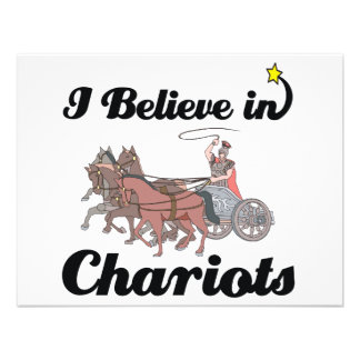 i believe in chariots personalized invitation