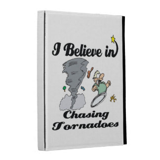 i believe in chasing tornadoes iPad cases