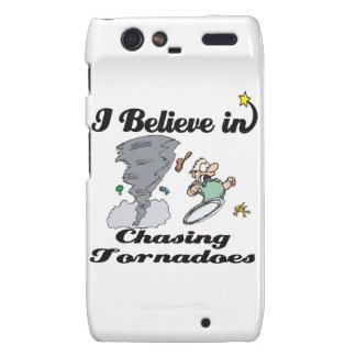 i believe in chasing tornadoes motorola droid RAZR case