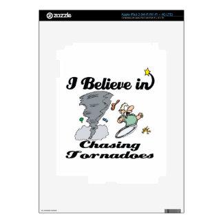 i believe in chasing tornadoes iPad 3 skins