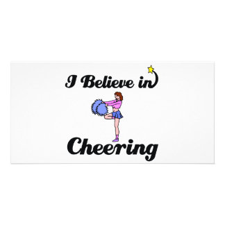 i believe in cheering photo card