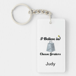 i believe in cheese graters Double-Sided rectangular acrylic keychain