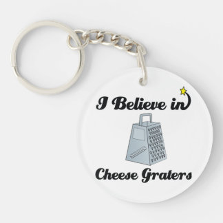 i believe in cheese graters Double-Sided round acrylic keychain