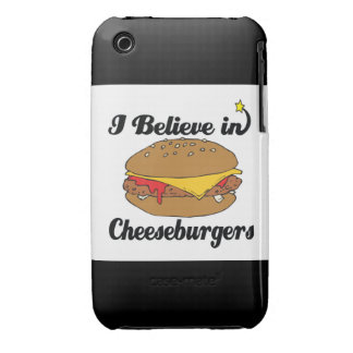 i believe in cheeseburgers iPhone 3 cover