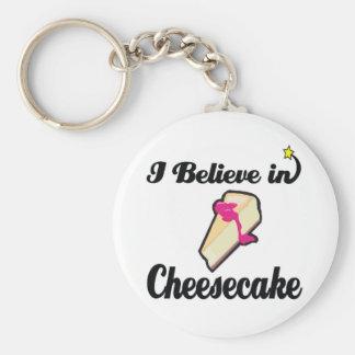 i believe in cheesecake keychain