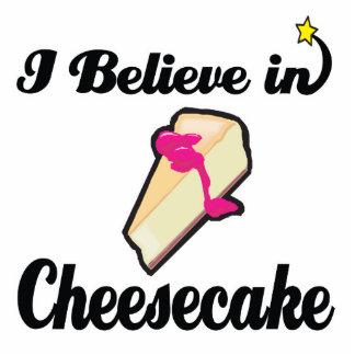 i believe in cheesecake standing photo sculpture